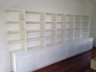 shelving and cupboards in living space