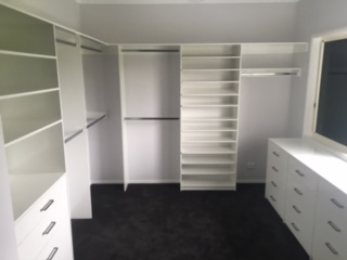 custom build walk in wardrobe