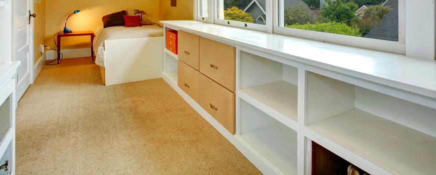 cupboards under window