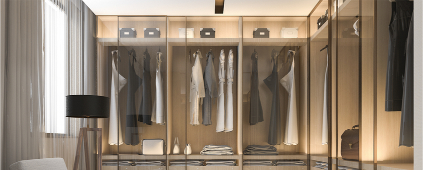 wardrobes with glass doors