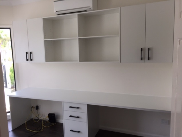 study shelving and cupboards