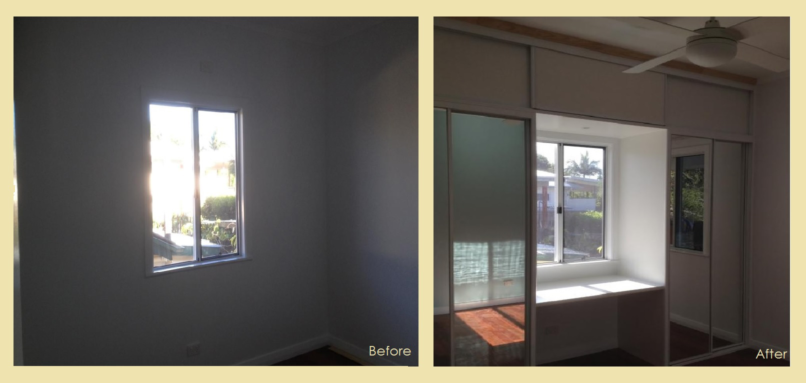 before and after wardrobe makeover