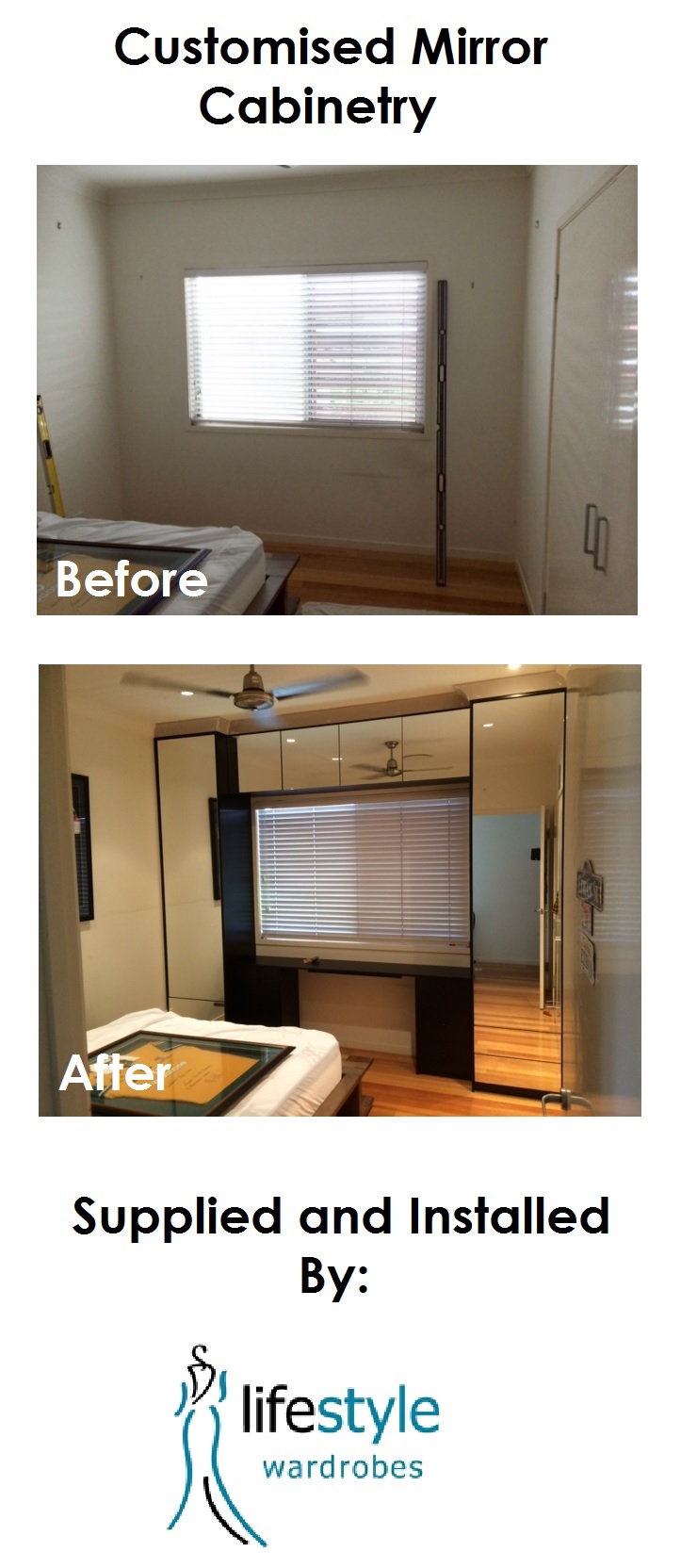 Kitchen space before and after image