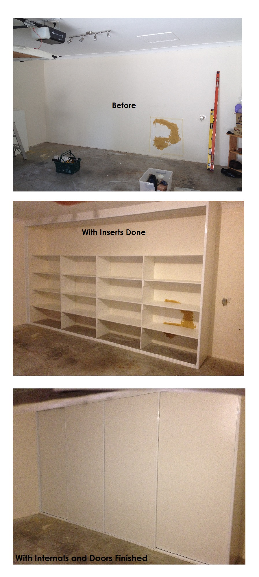 before and after of wardrobe