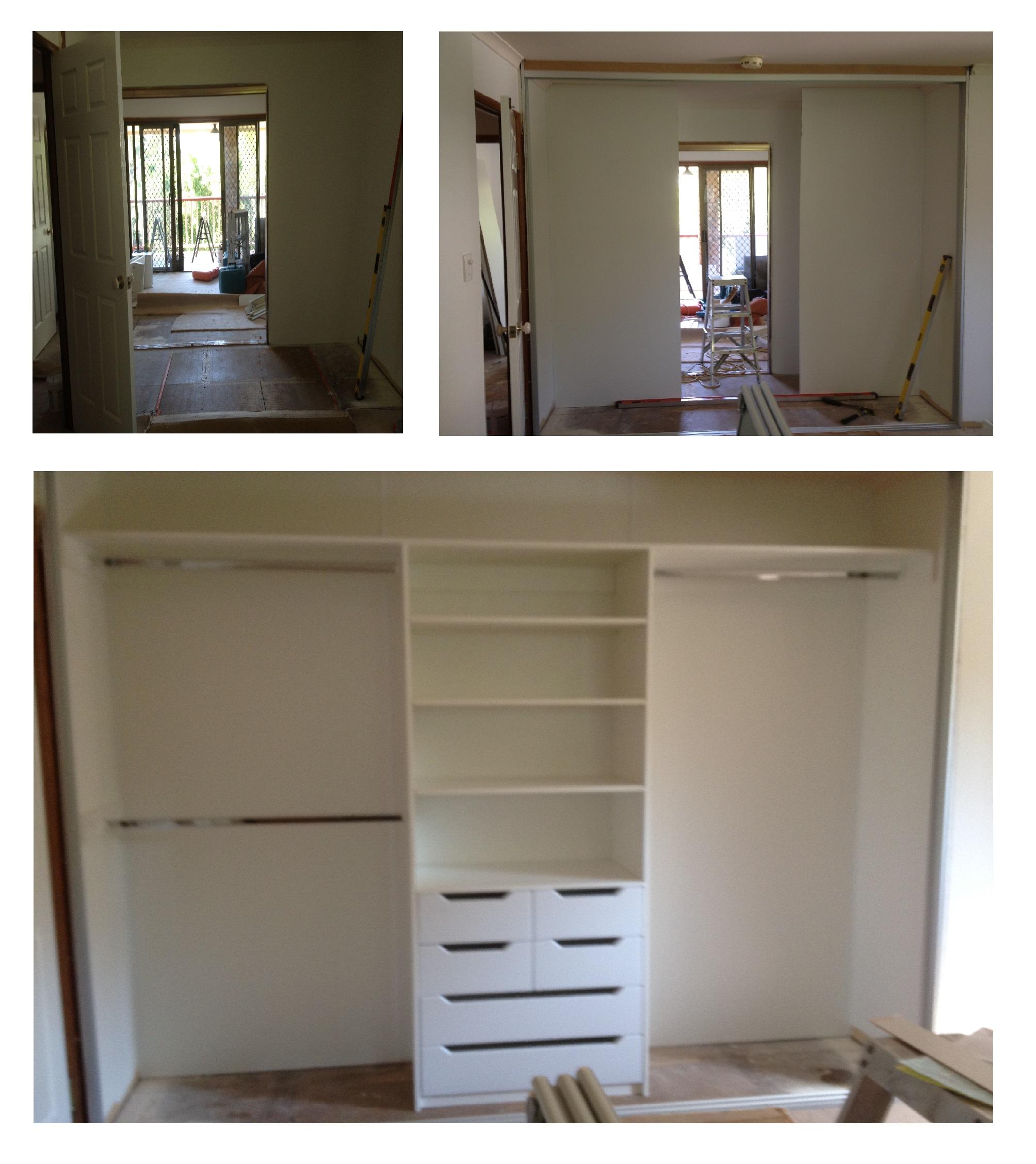 new wardrobe installation