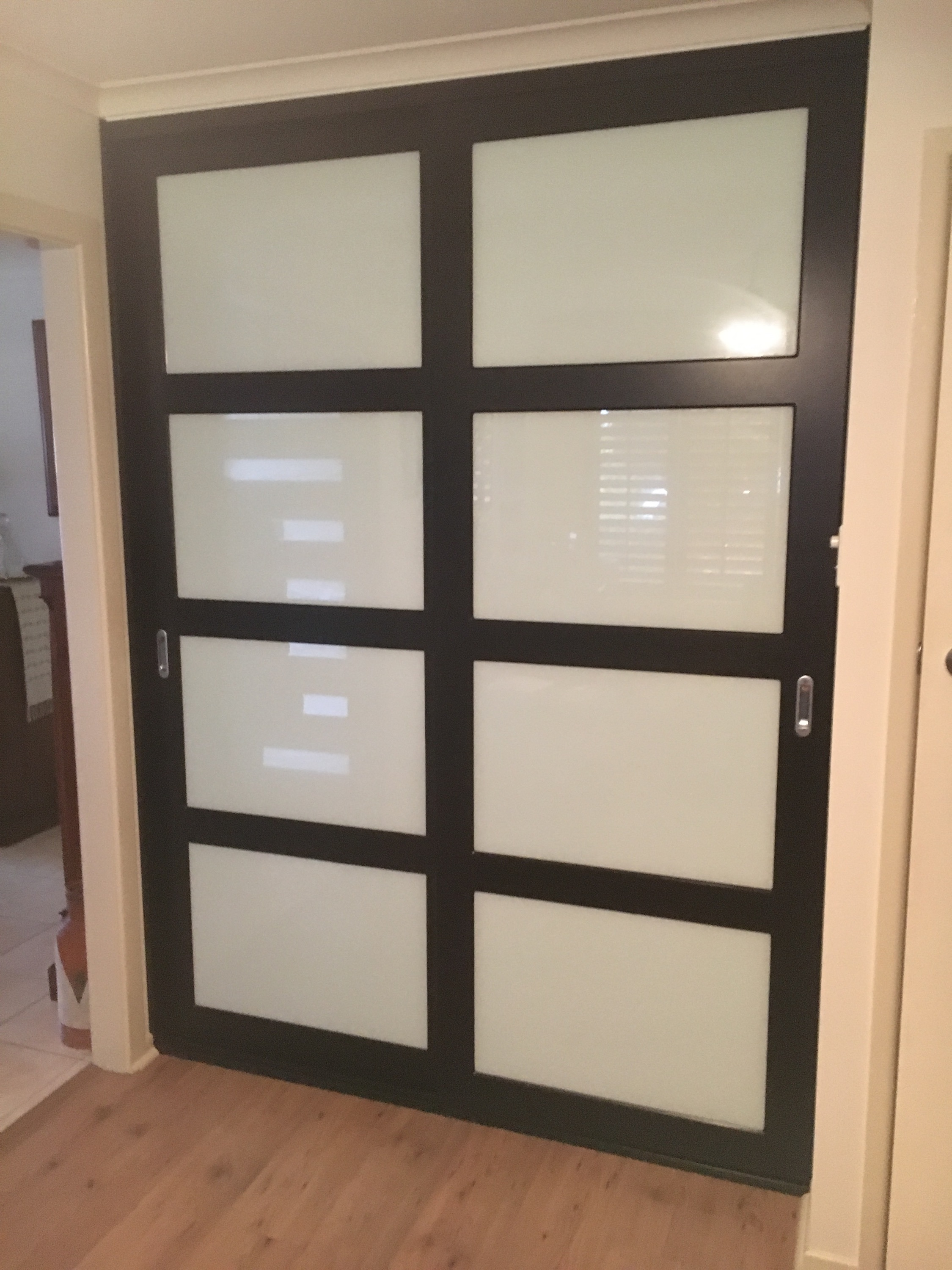 black and white and optional anel doors