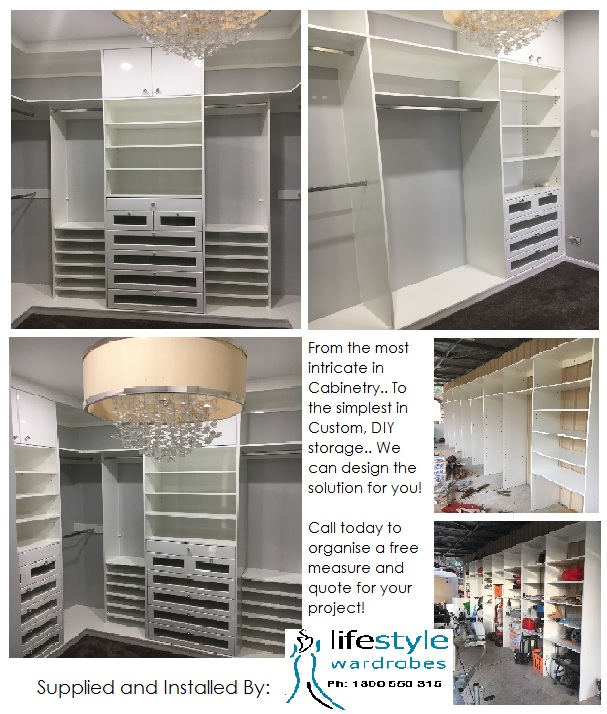 Custom Shelving and wardrobe space