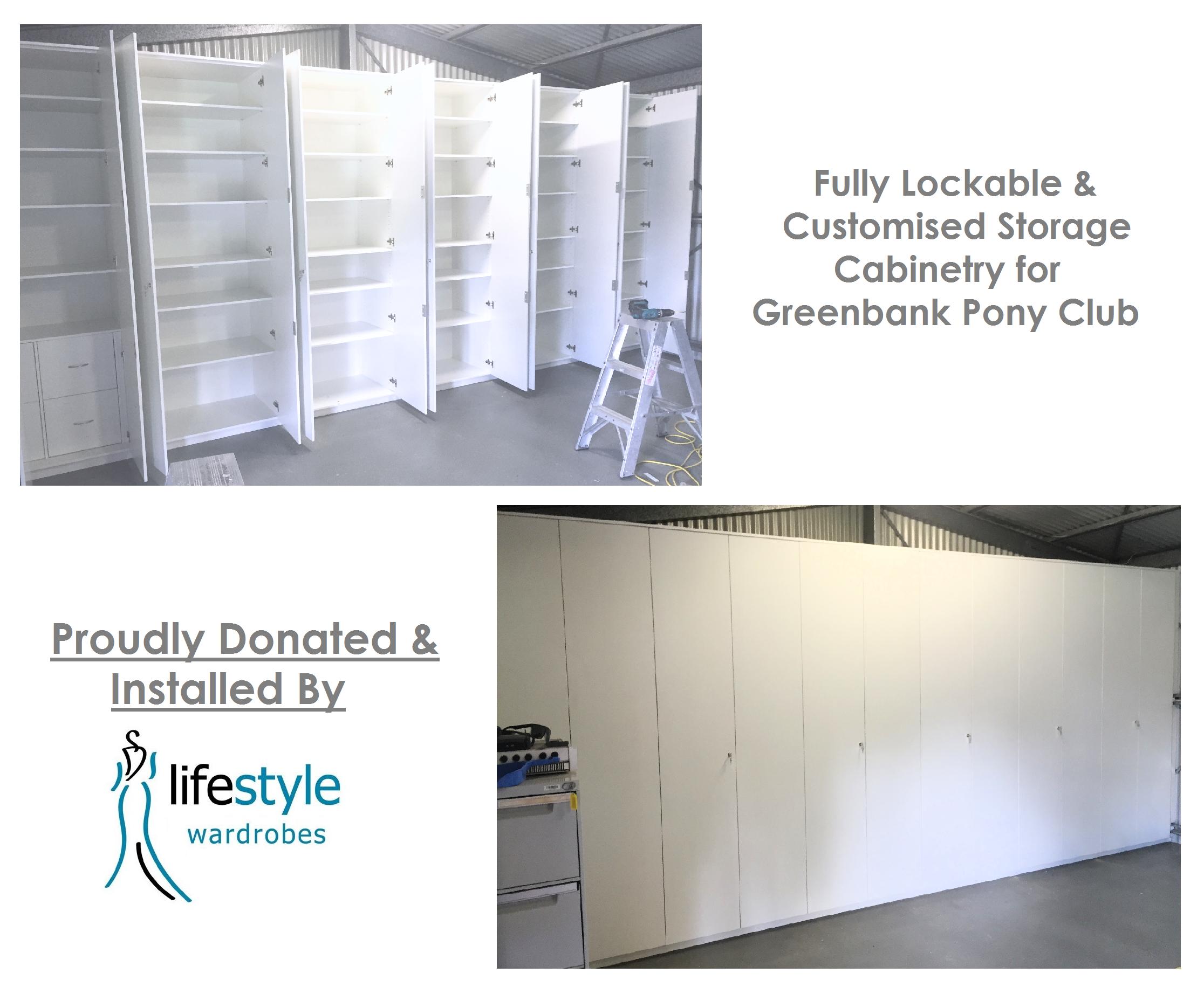 white rectangular cabinets
