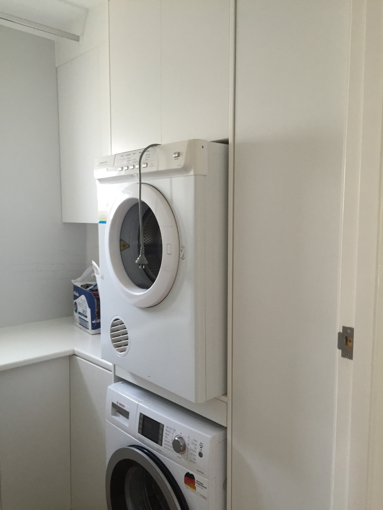 laundry space and built in wardrobes