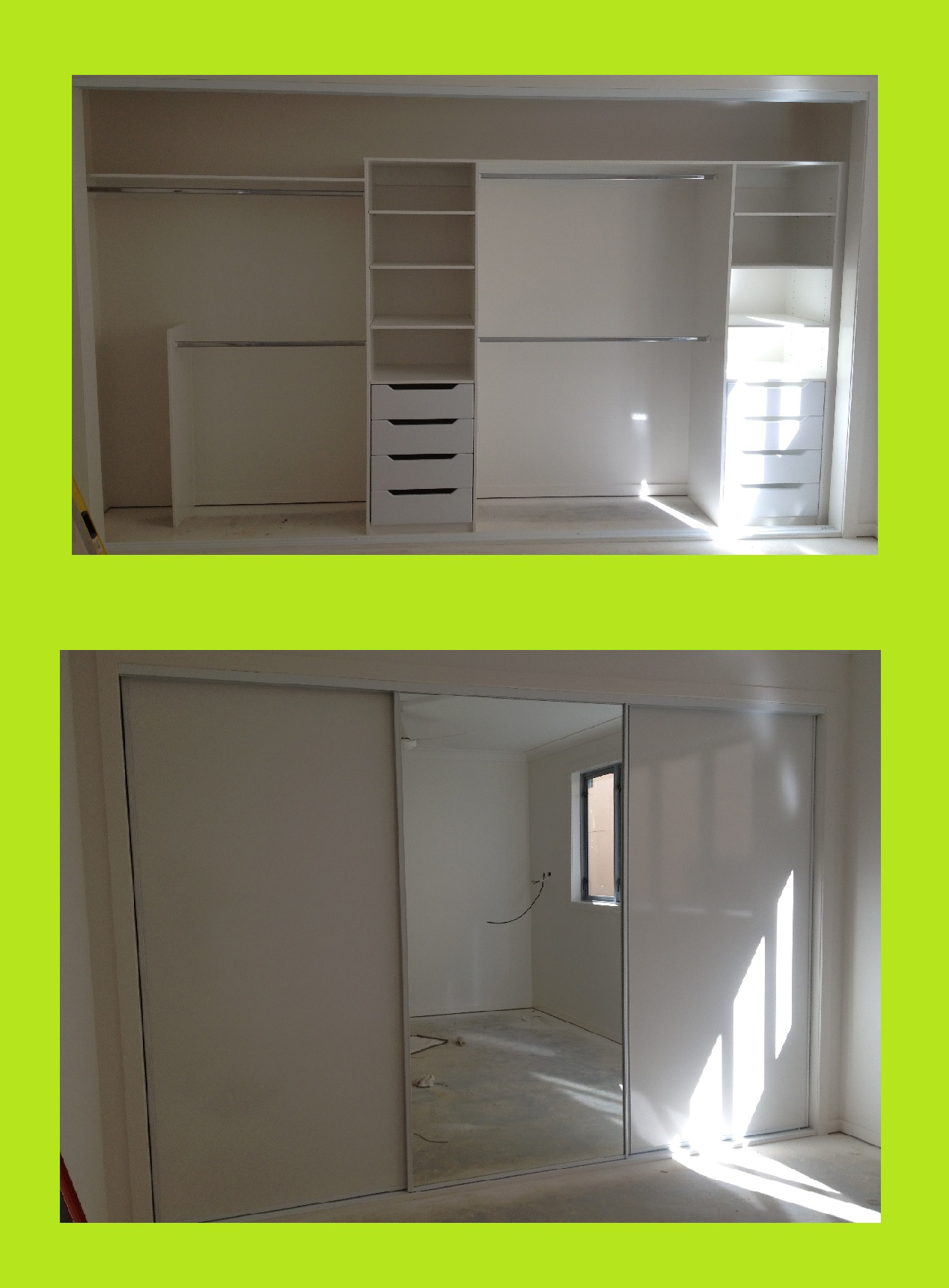 sliding doors with mirrir